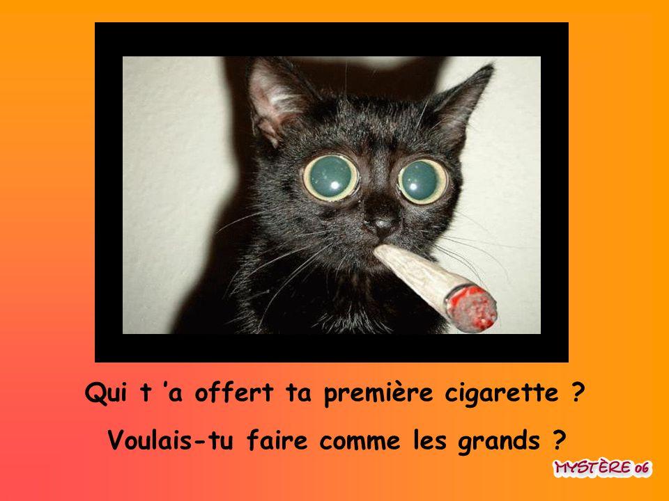 Qui t 'a offert ta première cigarette