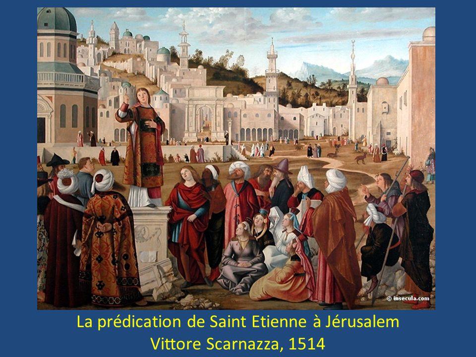 La prédication de Saint Etienne à Jérusalem
