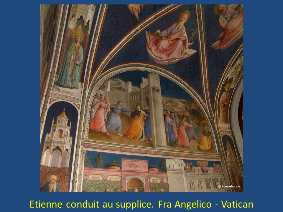 Etienne conduit au supplice. Fra Angelico - Vatican