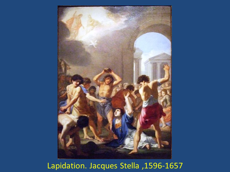 Lapidation. Jacques Stella ,1596-1657