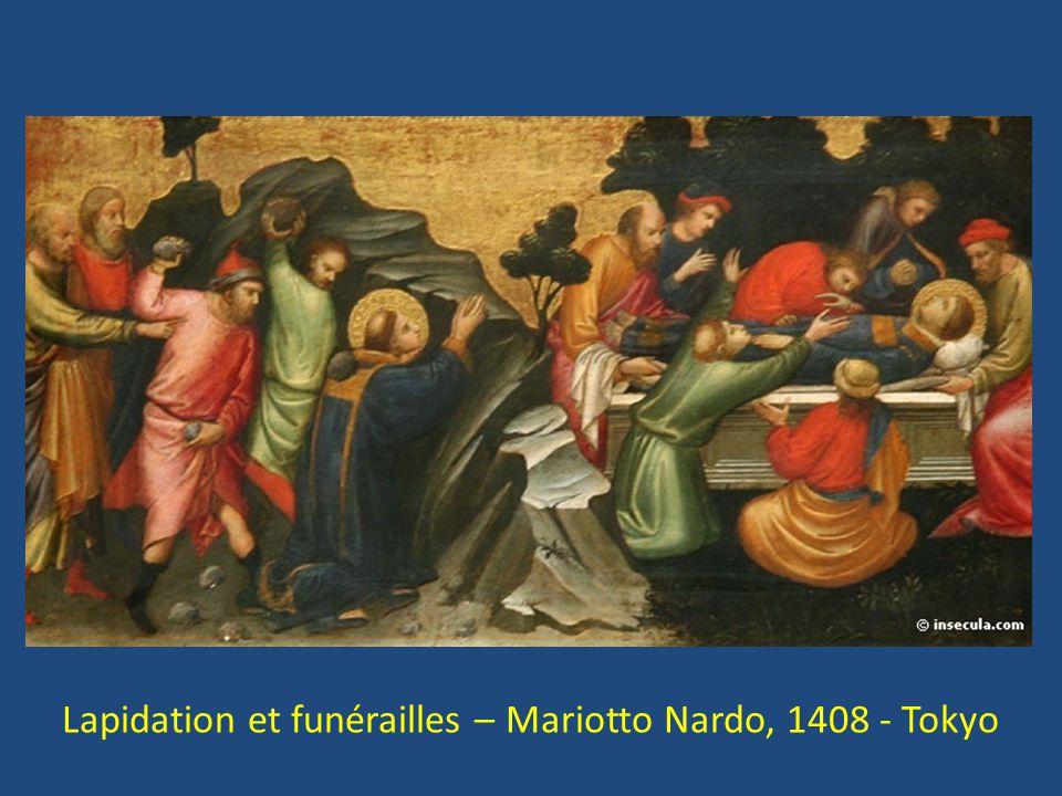 Lapidation et funérailles – Mariotto Nardo, 1408 - Tokyo