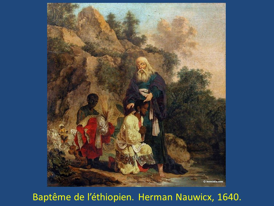 Baptême de l'éthiopien. Herman Nauwicx, 1640.