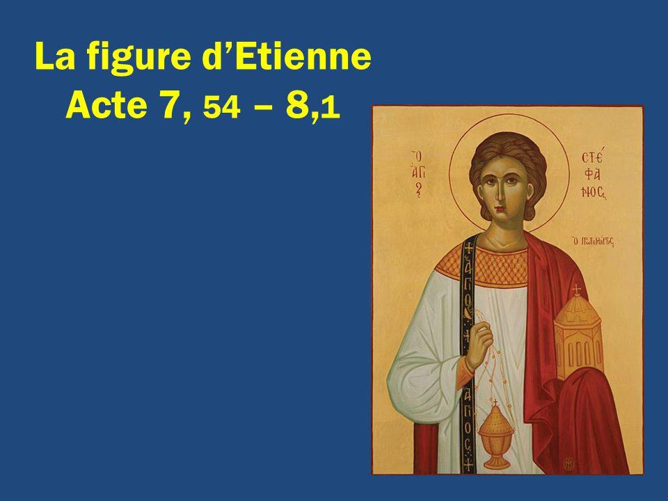 La figure d'Etienne Acte 7, 54 – 8,1