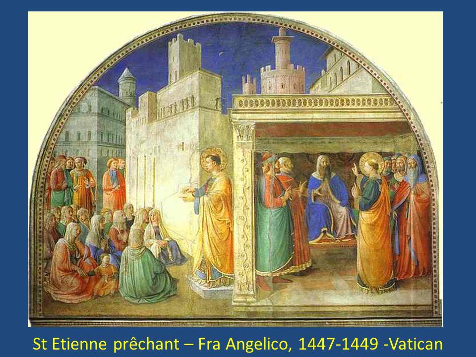 St Etienne prêchant – Fra Angelico, 1447-1449 -Vatican
