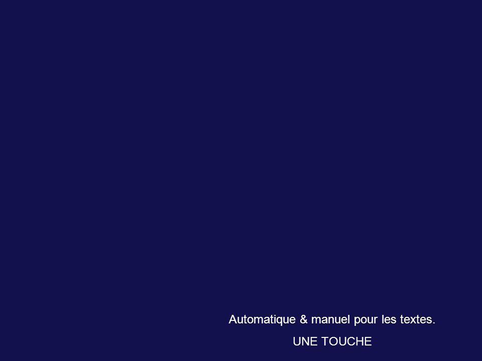 Automatique & manuel pour les textes.
