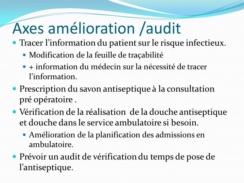 Axes amélioration /audit