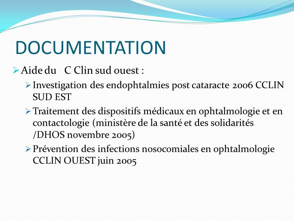 DOCUMENTATION Aide du C Clin sud ouest :