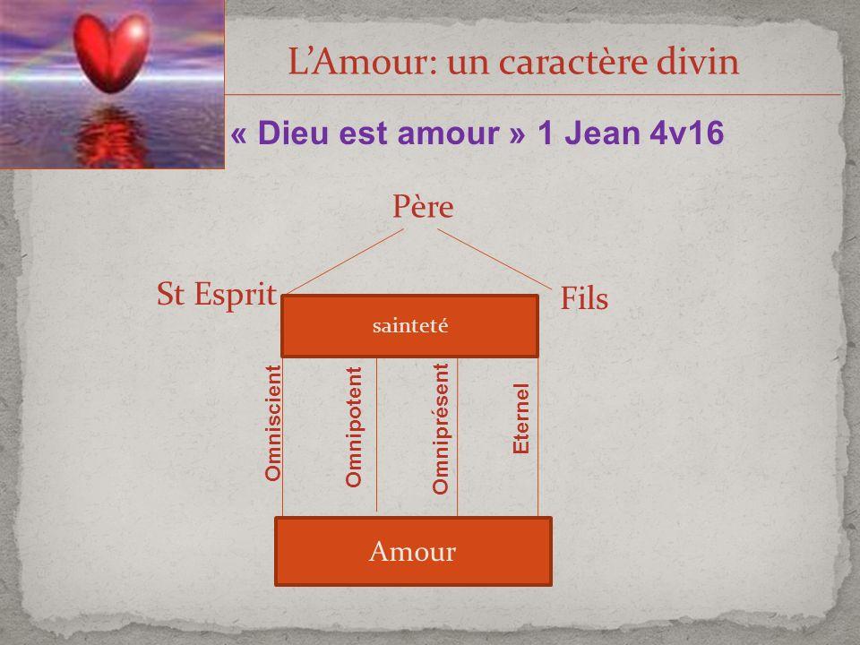L'Amour: un caractère divin