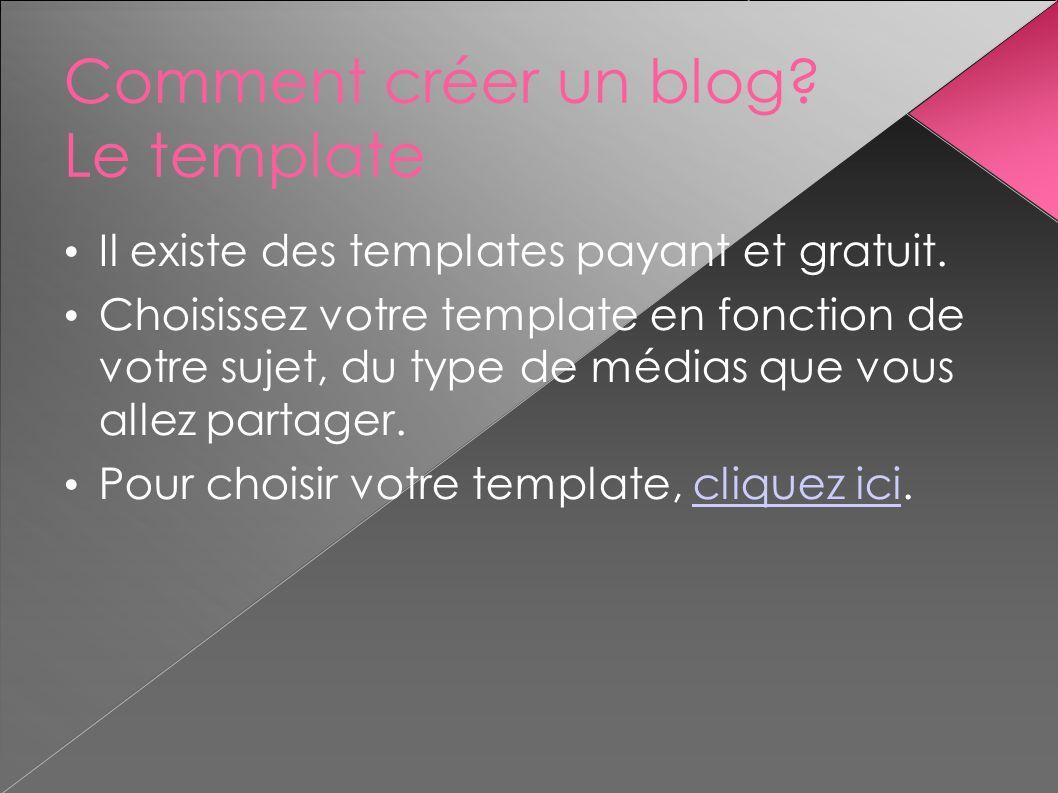 Comment créer un blog Le template