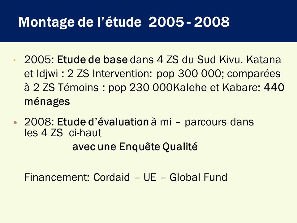 Montage de l'étude 2005 - 2008