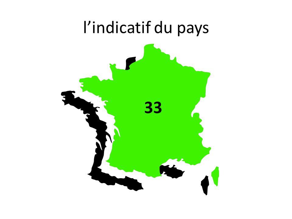 l'indicatif du pays 33