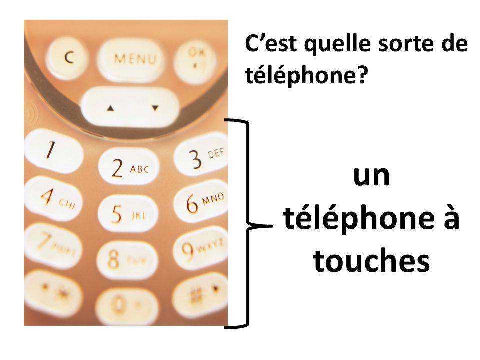 C'est quelle sorte de téléphone