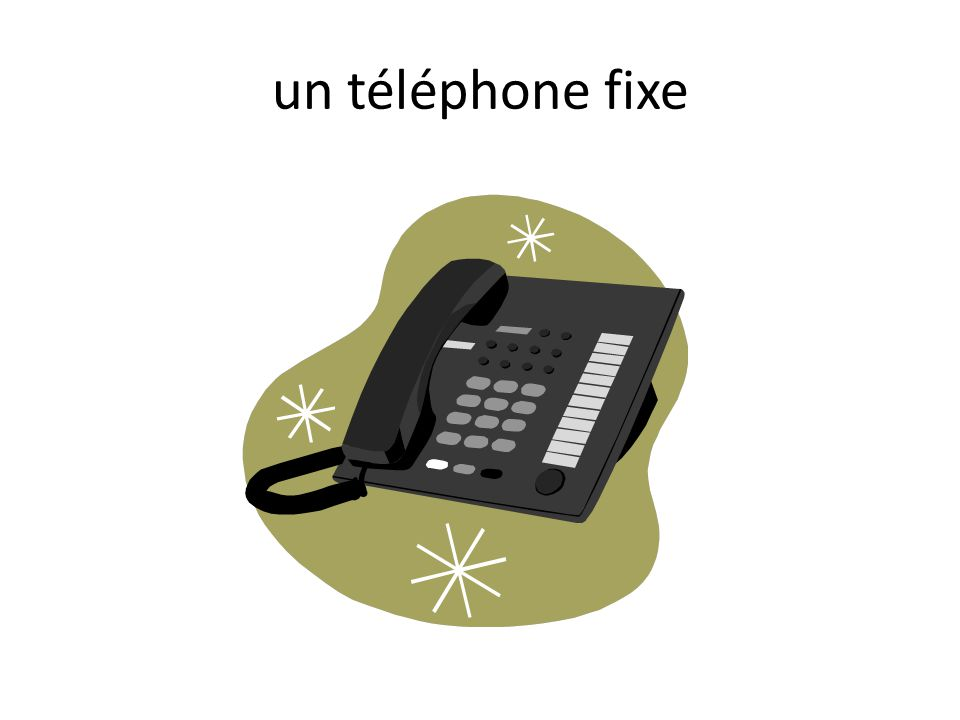 un téléphone fixe