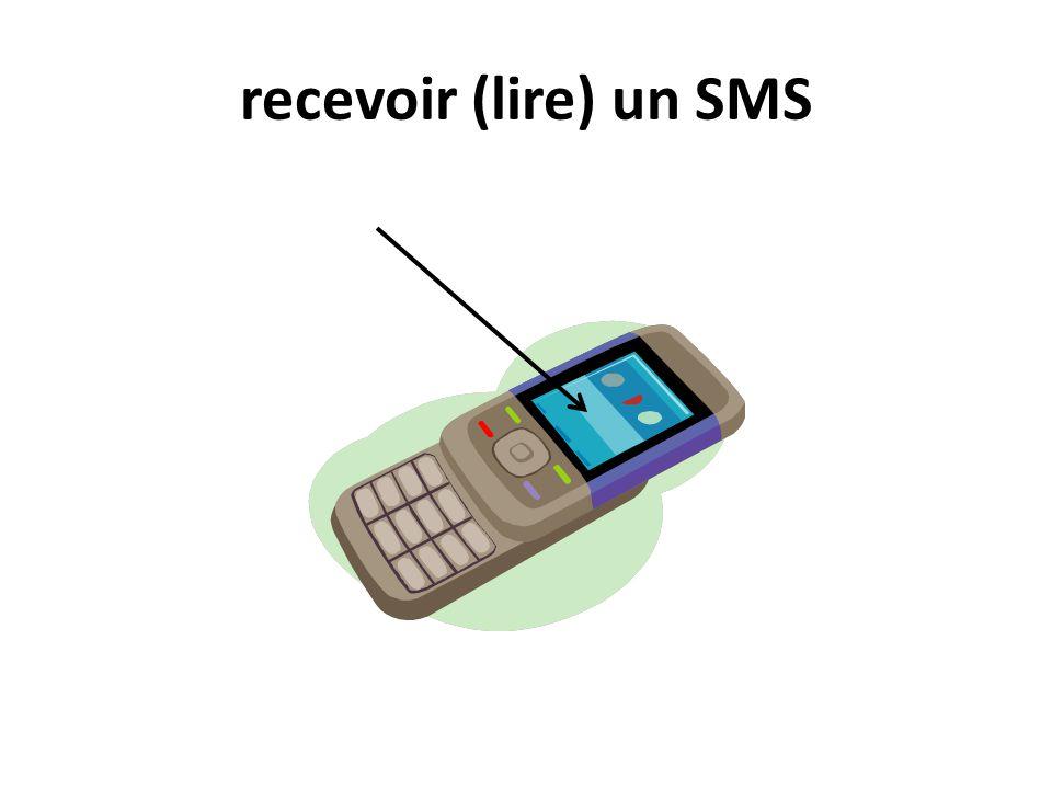recevoir (lire) un SMS