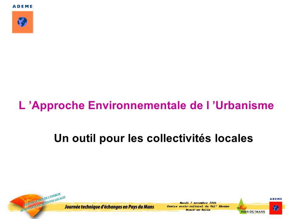 L 'Approche Environnementale de l 'Urbanisme