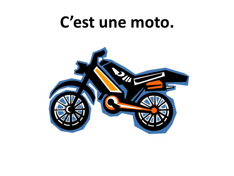 C'est une moto.
