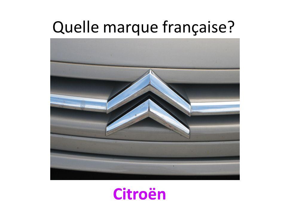 Quelle marque française