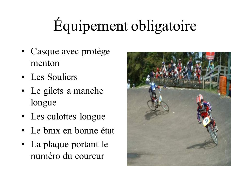 Équipement obligatoire