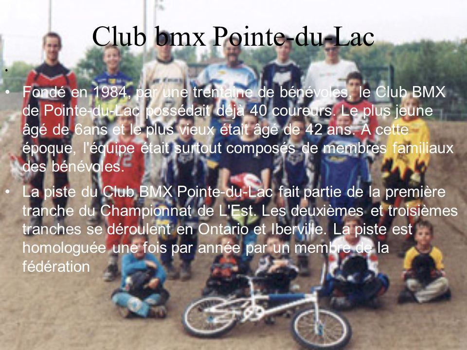 Club bmx Pointe-du-Lac