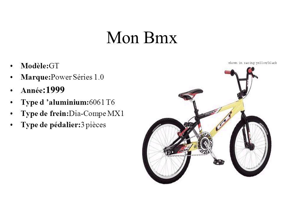 Mon Bmx Modèle:GT Marque:Power Séries 1.0 Année:1999