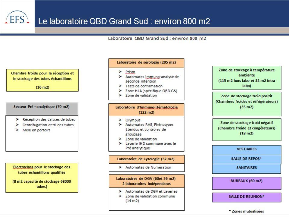 Le laboratoire QBD Grand Sud : environ 800 m2