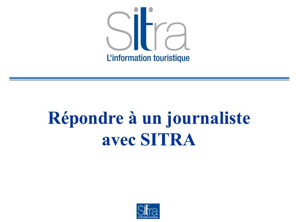 Répondre à un journaliste avec SITRA
