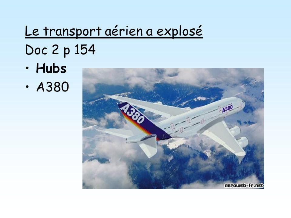 Le transport aérien a explosé