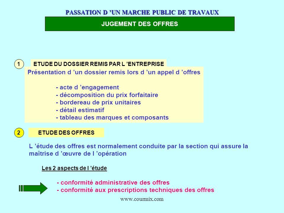PASSATION D 'UN MARCHE PUBLIC DE TRAVAUX