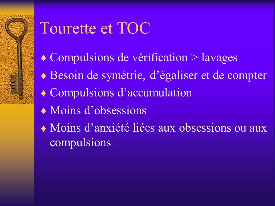 Tourette et TOC Compulsions de vérification > lavages