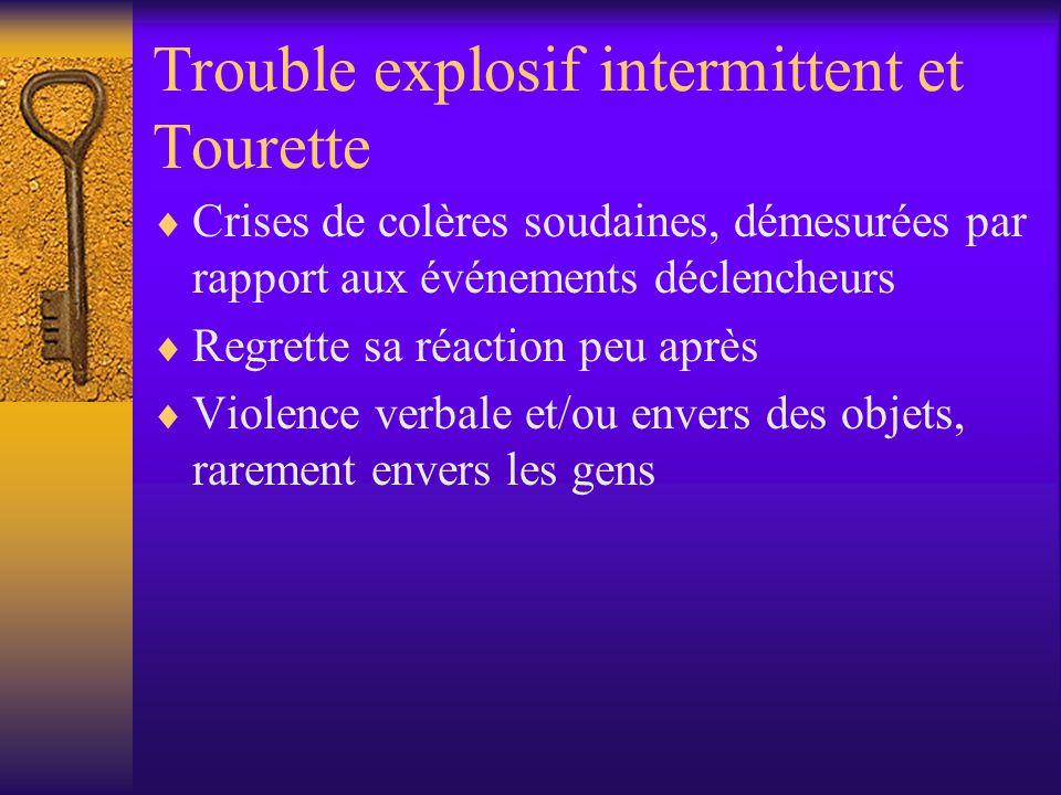 Trouble explosif intermittent et Tourette