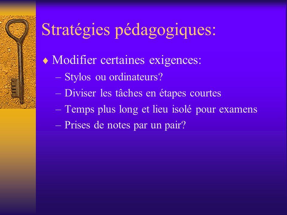 Stratégies pédagogiques: