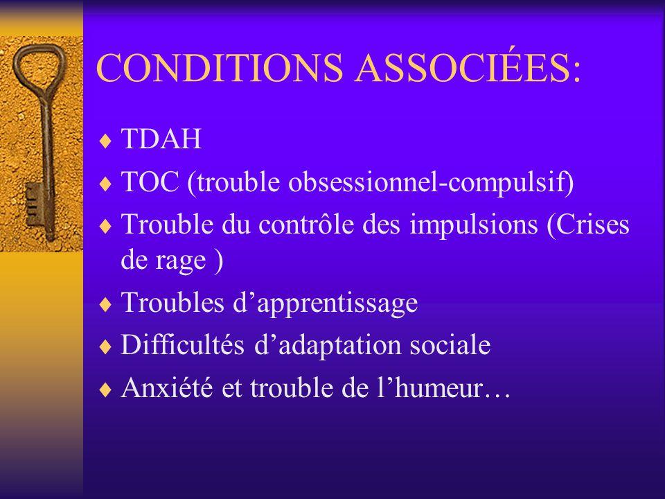 CONDITIONS ASSOCIÉES: