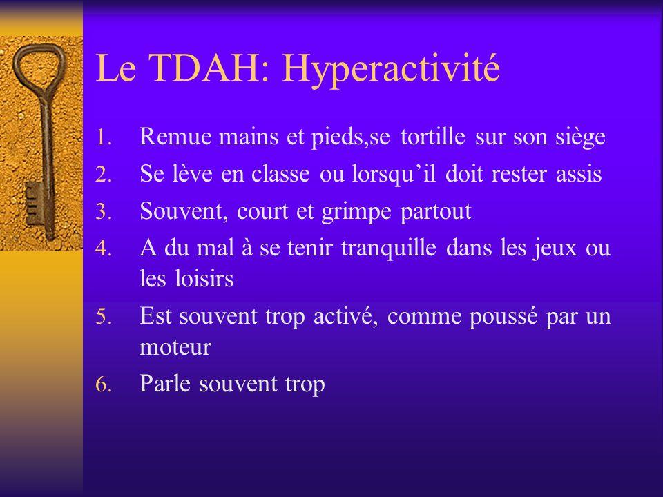 Le TDAH: Hyperactivité
