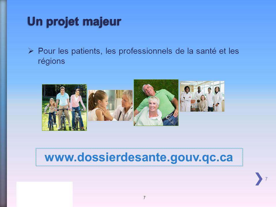 www.dossierdesante.gouv.qc.ca Un projet majeur