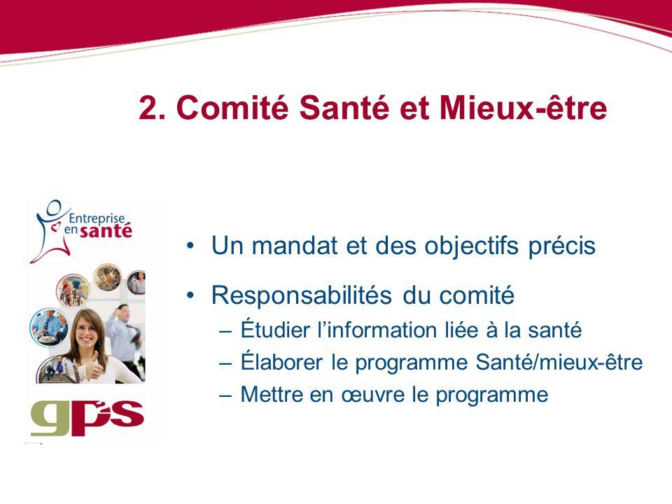 2. Comité Santé et Mieux-être