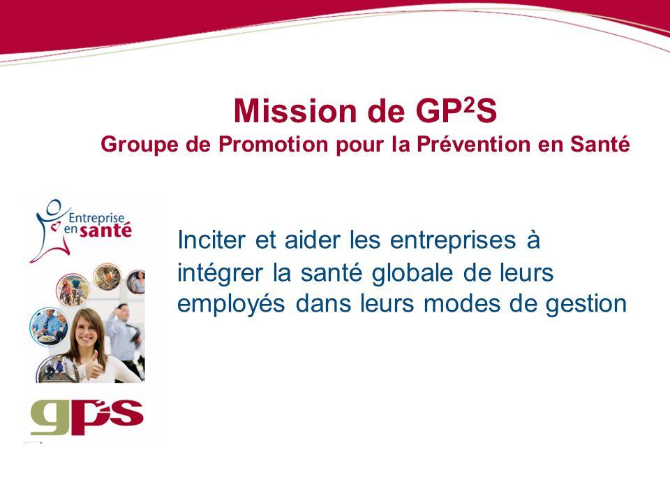 Mission de GP2S Groupe de Promotion pour la Prévention en Santé
