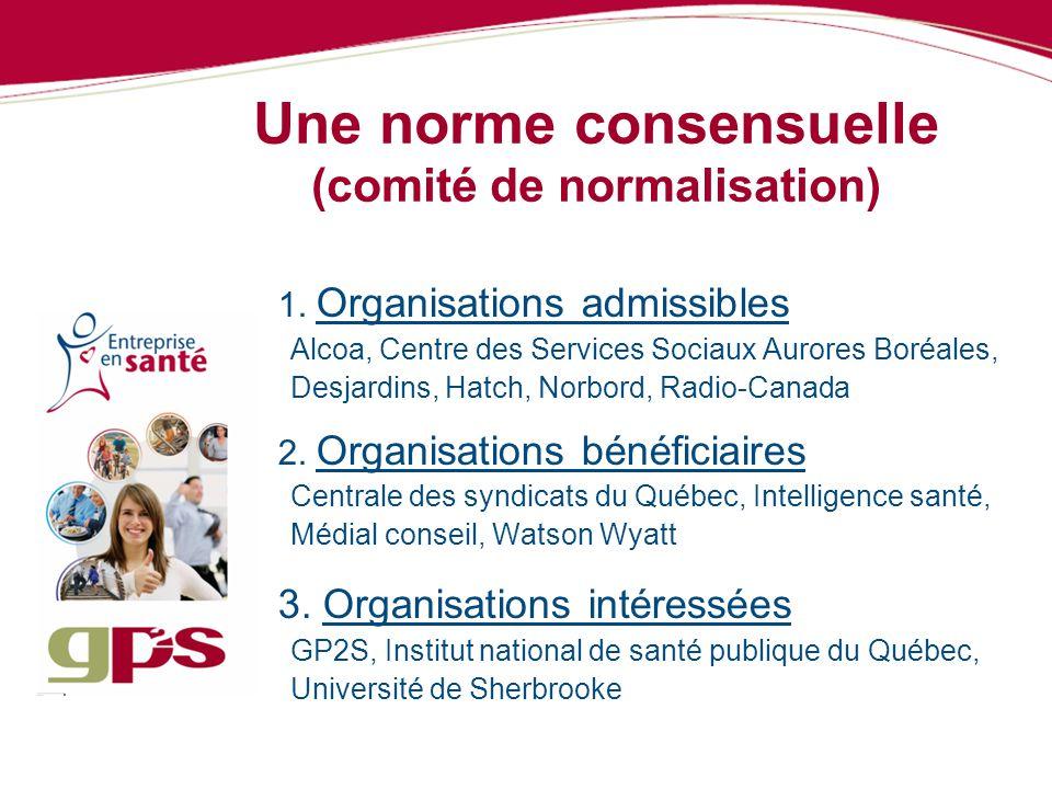 Une norme consensuelle (comité de normalisation)
