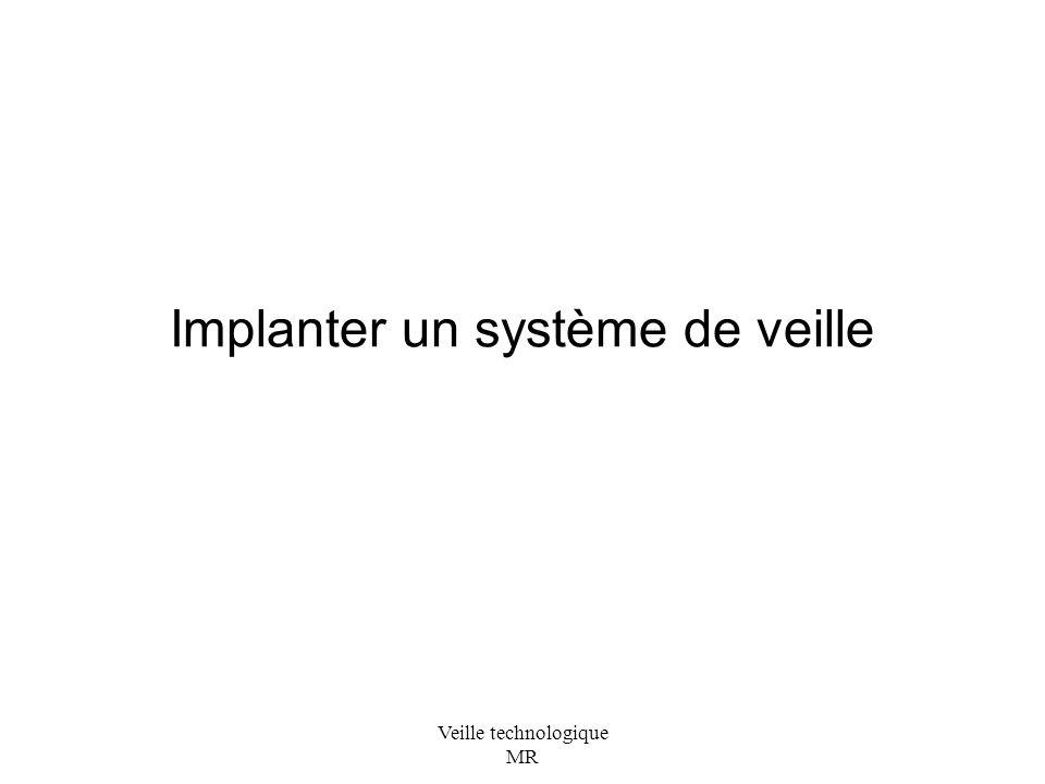 Implanter un système de veille
