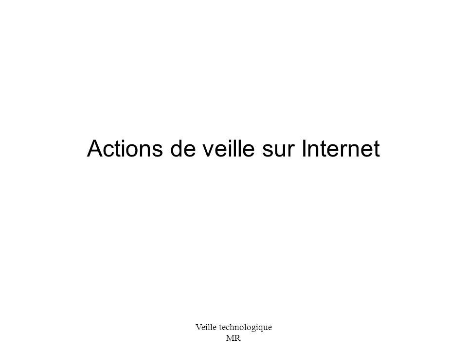 Actions de veille sur Internet