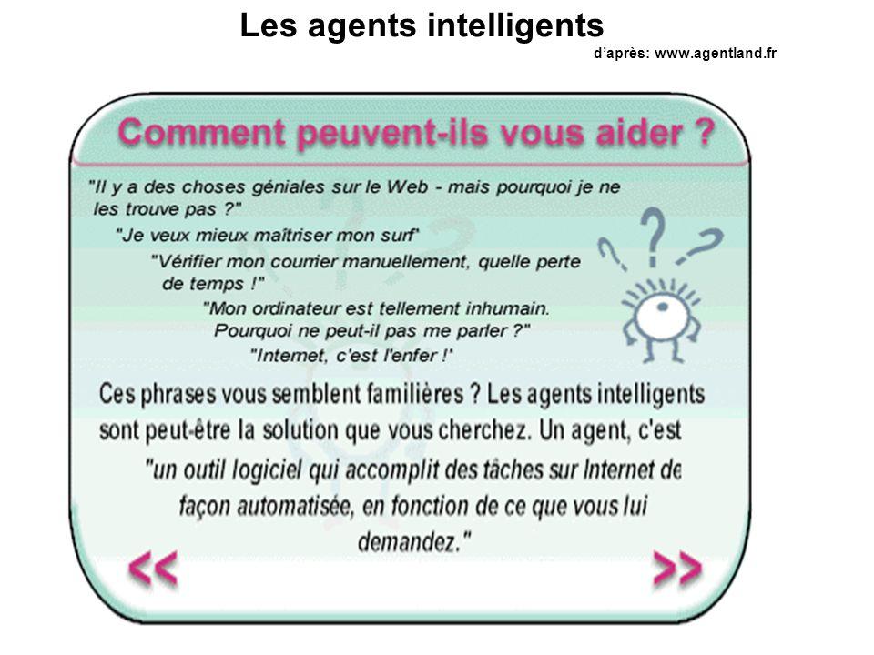 Les agents intelligents d'après: www.agentland.fr
