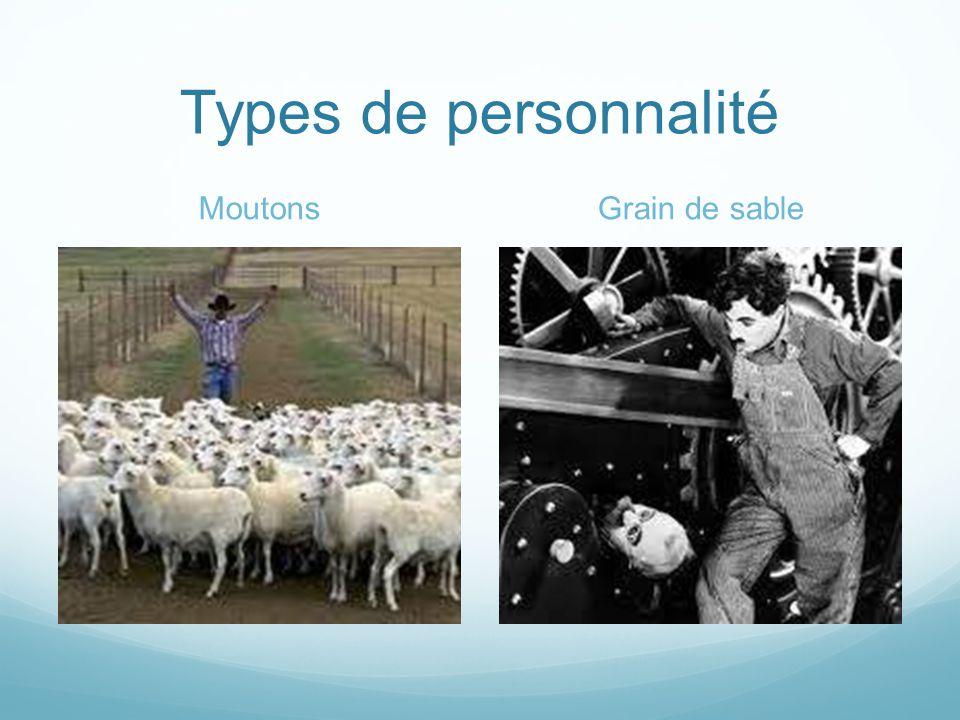 Types de personnalité Moutons Grain de sable