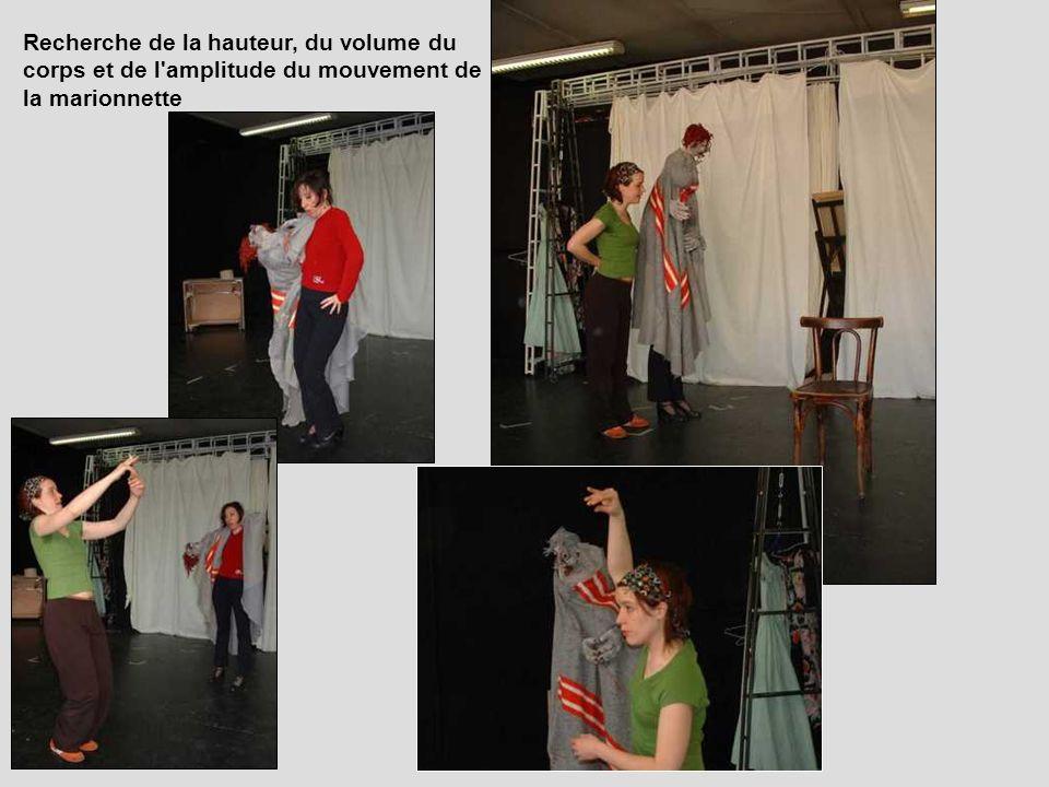 Recherche de la hauteur, du volume du corps et de l amplitude du mouvement de la marionnette