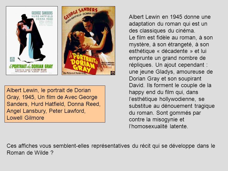 Albert Lewin en 1945 donne une adaptation du roman qui est un des classiques du cinéma.