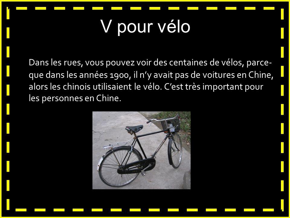 V pour vélo