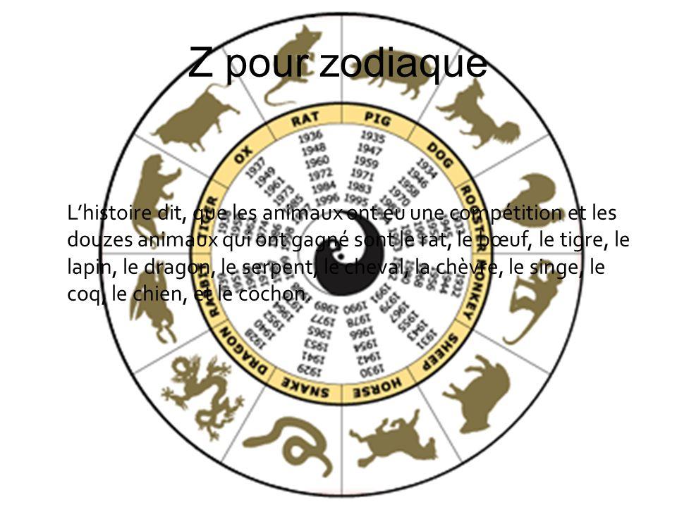 Z pour zodiaque