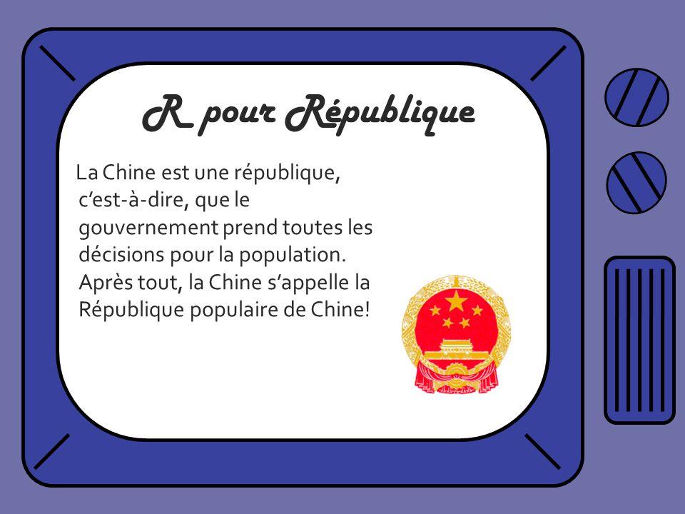 R pour République