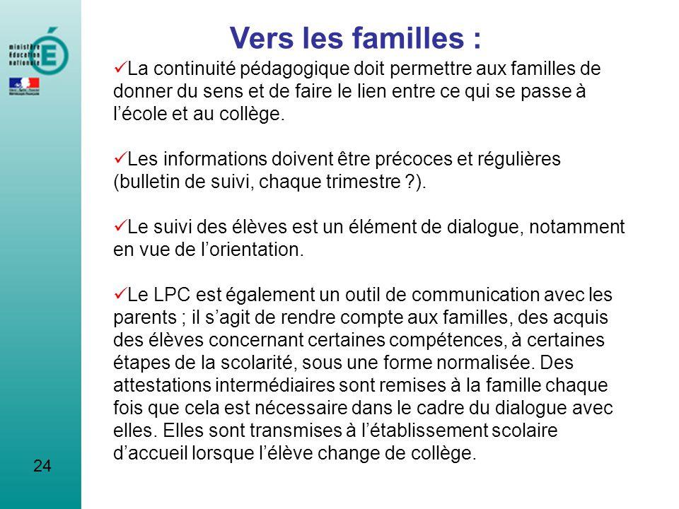 Vers les familles :