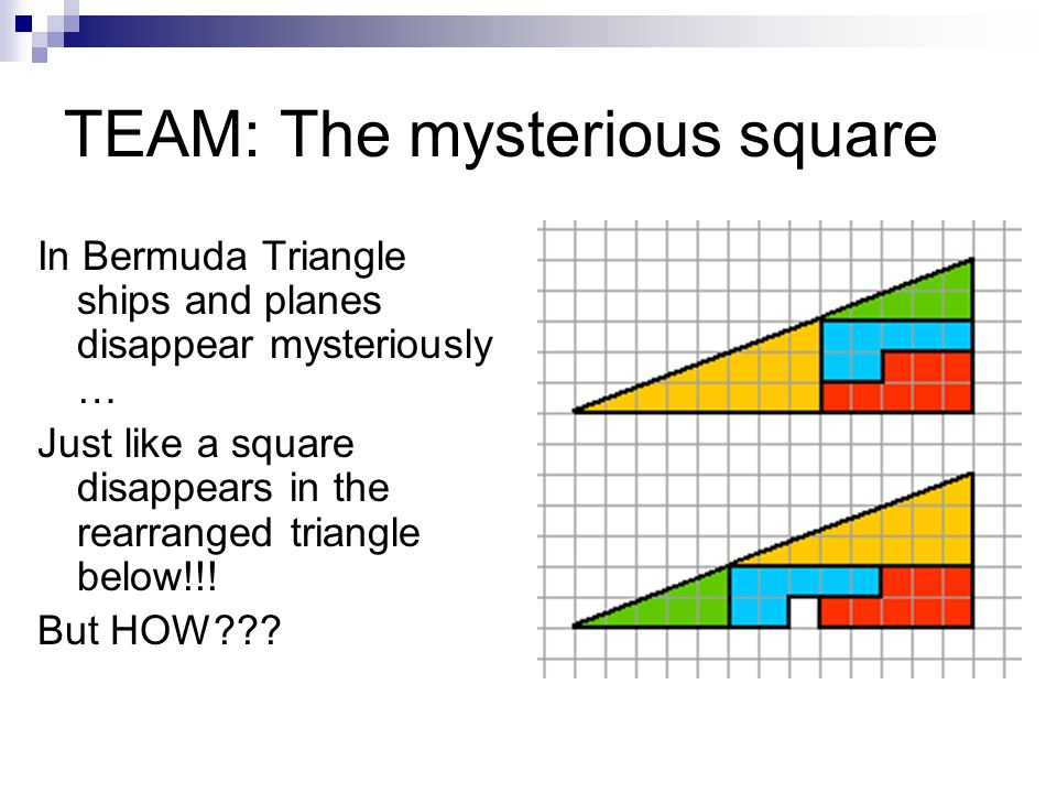 TEAM: The mysterious square