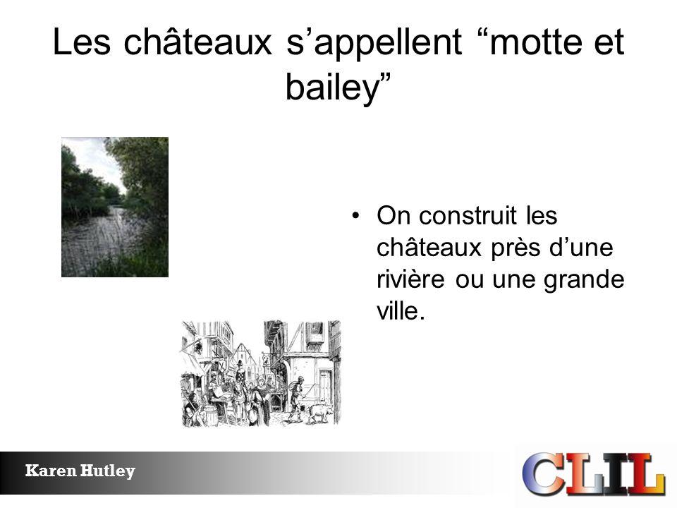 Les châteaux s'appellent motte et bailey