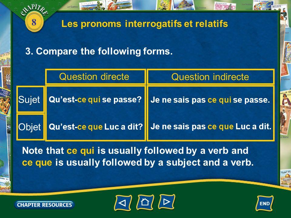 Les pronoms interrogatifs et relatifs